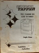 Tappan Free Standing Gas Slide In Range Guide To Your Profile Series Model