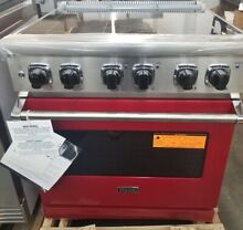 NEVER USED RED VIKING 30 INCH PROFESSIONAL ELECTRIC RANGE SELF CLEANING