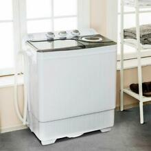 26LBS Portable Mini Compact Twin Tub Washing Machine w Washer and Spinner Cycle