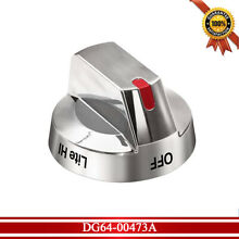 DG64 00473A Top Burner Control Dial Knob with Reinforced Ring for Samsung Stove