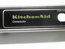 KitchenAid KUCS181 Trash Compactor Black Control Panel Trim Escutcheon 4178077