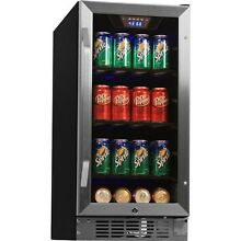 Edgestar 80 Can Built In Beverage Center  Compact Stainless Steel Refrigerator