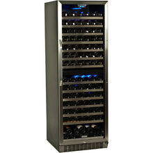 Large 155 Bottle Built In Wine Cooler  Dual Zone Commercial Refrigerator Cellar
