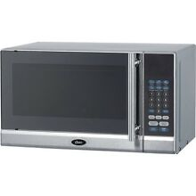 Compact  7 Cu  Ft  700 Watt Black Microwave Oven  Digital Clock w  Glass Table