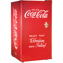 Coca Cola Series Compact Refrigerator   Freezer  Small Internal Coke Mini Fridge