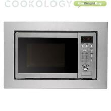 Stainless Steel Integrated Microwave Built in by Cookology IM20LSS 20L 800W 60cm