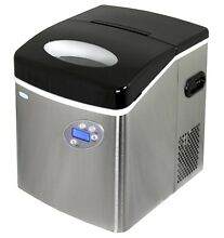 NewAir AI 215SS Portable Ice Maker Countertop Stainless Steel Makes 50 lbs Day