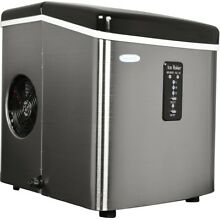 NewAir Portable Ice Maker Compact Countertop Stainless Steel  Makes 28 lbs Day