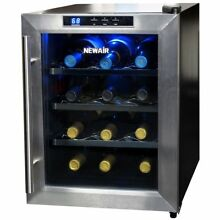NewAir AW 121E 12 Bottle Thermoelectric Wine Cooler Free Standing Counter Top