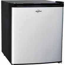 Stainless Steel 1 7 Cu  Ft  Compact Fridge  Dorm Office Mini Small Refrigerator