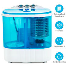 10lbs Mini Portable RV Dorm Compact Washing Machine Spin Dryer Laundry Washer