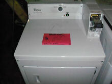 NEW WHITE WHIRLPOOL COIN OPERATED DRYER CEM2743BQ NOB LOCAL PICKUP ONLY