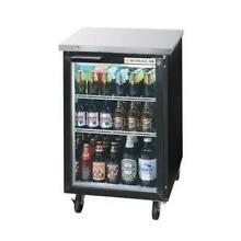 Beverage Air BB24HC 1 G B 24  Glass Door Back Bar Refrigerator w  Black Exterior