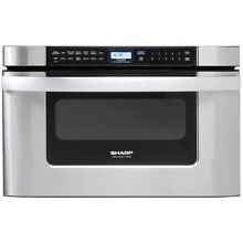 Sharp 1000 Watts 1 2 cu  ft  Stainless Steel Microwave Drawer Oven   KB 6524PS
