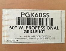 VIKING PGK60SS 60  STAINLESS STEEL PROFESSIONAL GRILLE KIT