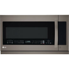 LG 2 2 cu ft  1000 Watts Over the Range Microwave Oven in Black Stainless Steel