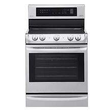 LG 6 3 cu  ft  Electric Single Oven Range with ProBake Convection  NEW