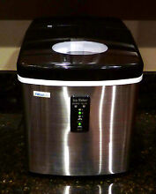 NewAir AI 100SS 28 Pound Portable Ice Maker   Stainless Steel
