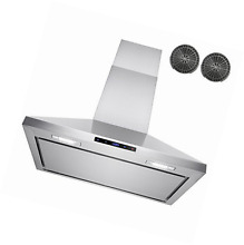 AKDY 30  Wall Mount Stainless Steel Touch Control Kitchen Ductless Range Hood w