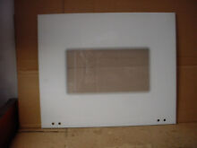 KitchenAid Wall Oven Main Outer Door Glass White Part   4455392 W10401226