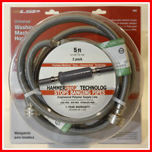 make an OFFER  LSP HammerSTOP  BANGING PIPEs Washing Machine Hose 2 Pack  10835