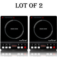 2  NEW NutriChef PKST14 Ceramic Induction Cooktop  Electric Glass Burner Cooker