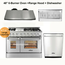 Thor Kitchen 48 Gas Range 6 Burners Cooktop Double Oven Range Hood 24 Dishwasher