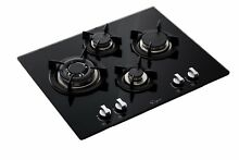 24  4 Italy Imported Sabaf Burners Gas Cooktop Stove Top Stainless Steel   Glass