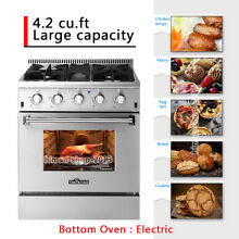 Thor Kitchen 30 Gas Range Electric Oven 4 Burners Cooktop HRD3088U Dual Fuel