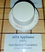Jenn Air Oven Selector Knob White 704483  7 4483 SATISFACTION GUARANTEED