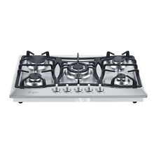 30  Stainless Steel 5 Italy Sabaf Burners Stovetop Gas Cooktop
