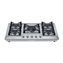 30  Stainless Steel 5 Italy Sabaf Burners Stove Top Gas Cooktop