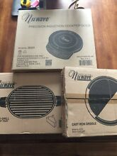 3 Pc  Nuwave PIC Gold portable countertop   Cast Iron Grill   Cast Iron Griddle