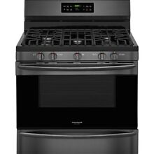 Frigidaire black stainless steel gas stove