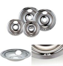 4 Pack Ge Hotpoint Electric Range  Chrome Stove Drip Pans Covers Top Set
