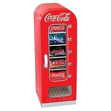 RETRO COCA COLA VENDING FRIDGE 10 CAN MACHINE MINI SODA REFRIGERATOR CAR BOAT