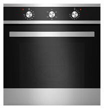 Empava 24  Tempered Glass Electric Built in Single Wall Oven Black and Silver