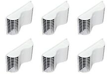 Deflect O EVE6 Undereve Vent  For Cloths Dryer  Exhaust Venting  White  6 Pack