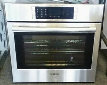 BOSCH 800 Series Single Electric Oven HBL8451UC 30  4 6 cu  ft  W  Convection