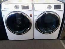 Samsung White Front Load Washer Electric Dryer WF42H5400AW DV42H5400EW