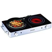 Countertop Burners Electric Burner  Ceramic Glass  Cool Touch Infrared Stove