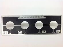 VINTAGE STOVE PARTS Chambers Gas Countertop Cooktop Control Panel Trim Plate