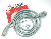 Range Oven Electric Power Cord 3 Prong Wire 50 Amp 10  Foot  Heavy Duty