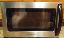 FRIGIDAIRE MICROWAVE OVEN DOOR for model  fmv156dcc STAINLESS STEEL with handle