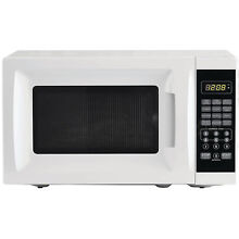 Microwave Oven 700w Counter Top Kitchen Compact Power White Dorm Small Steel