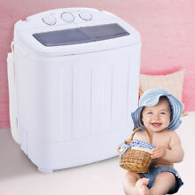 Portable Compact Twin Washing Machine Washer Spin   Dry Cycle w  DRAIN PUMP