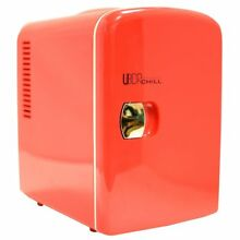 UberChill 6 can Retro Personal Mini Fridge for Home  Office  Car or boat AC