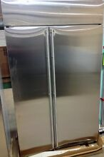 GE Monogram 48   Built In Side By Side Refrigerator ZISS480NKSS Retails 9 350