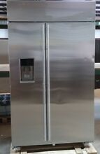 GE Monogram 48  Stainless Built In Side By Side Refrigerator ZISS480DKSS NOB