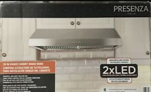 Presenza Under Cabinet Range Hood 7in  Stainless Steel 380 CFM LED Lights QR065